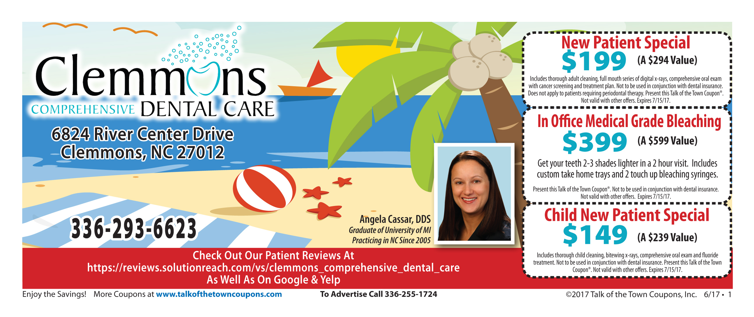 Clemmons Dental offer coupon booklet image