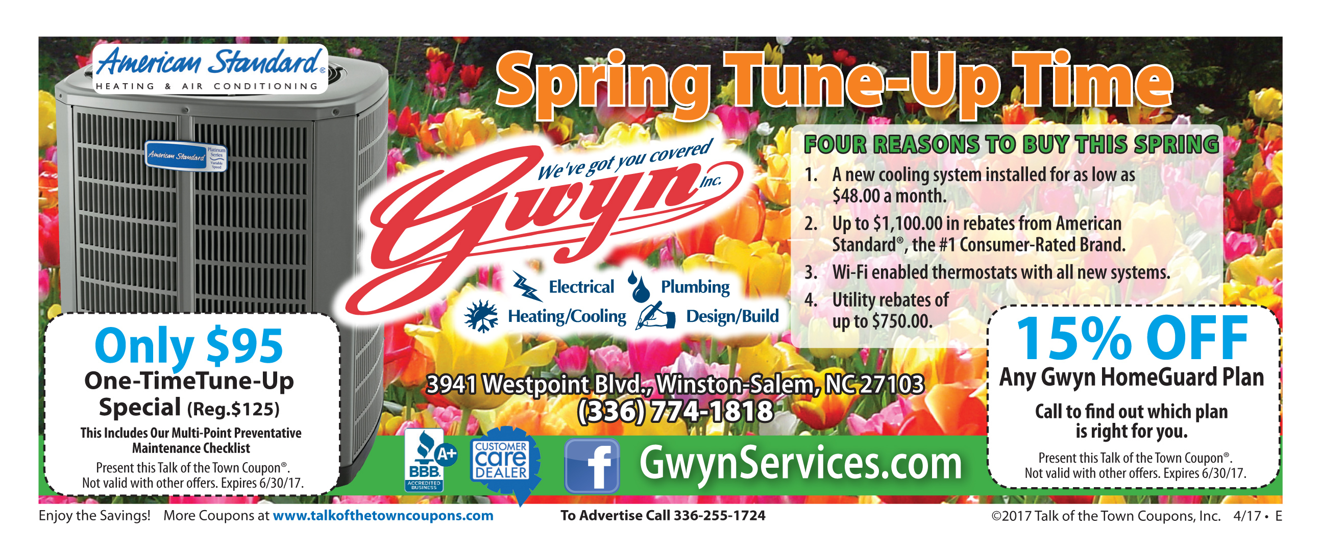 Gwynn Heating Air offer coupon booklet image