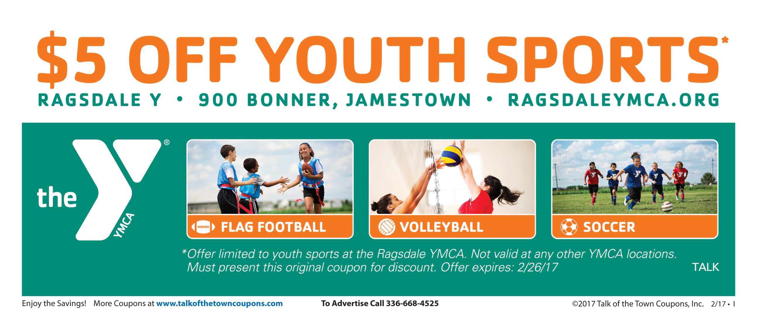 YMCA ACBooklet Offer Coupon image